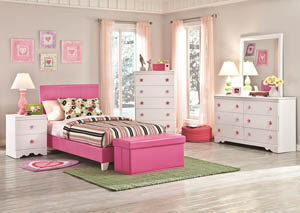 Savanah Twin Pink Bed