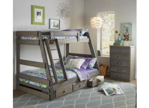 Twin/Full Bunk Bed (Does not include under-bed storage)