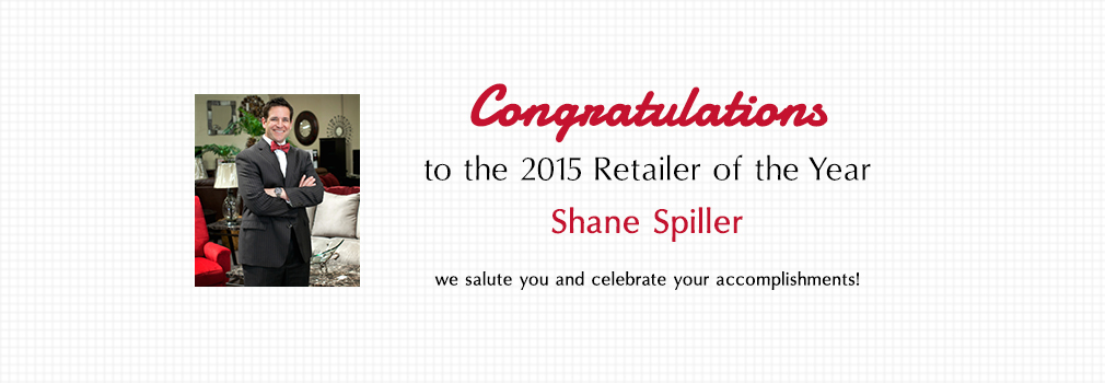 Congratulations to the 2015 retailer of the year Shane Spiller!